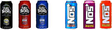 Full Throttle Energy Drinks  NOS Energy Drinks   Coca Cola Bottling Company Santa Fe