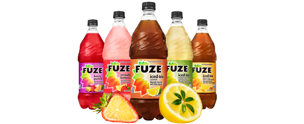 FUZE TEA is a new global tea brand from the Coca-Cola family that is a fusion of tea with fruit flavors and other natural ingredients.