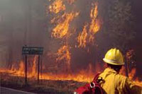 Los Conchas firefighters help protect Los Alamos