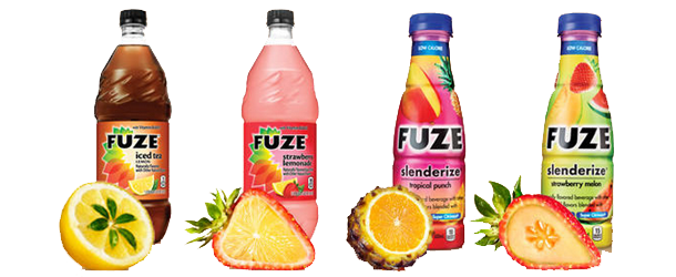 Fuze juice drinks from Coca-Cola